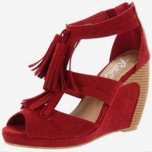 Rebel Wedge Heels; Size 8.5